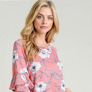 A girl thing flowered shirt NWT